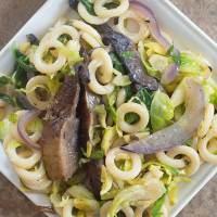Winter Pasta Salad With Portobello Mushrooms (Vegan)