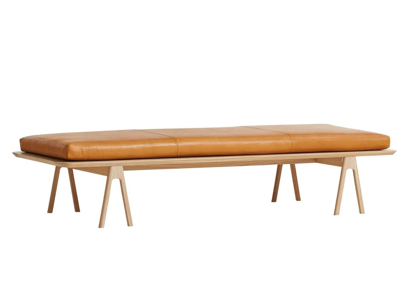 Level Daybed Oak Cognac Leather - Bedroom Furniture - Bedroom on Cognac Leather Headboard  id=37782