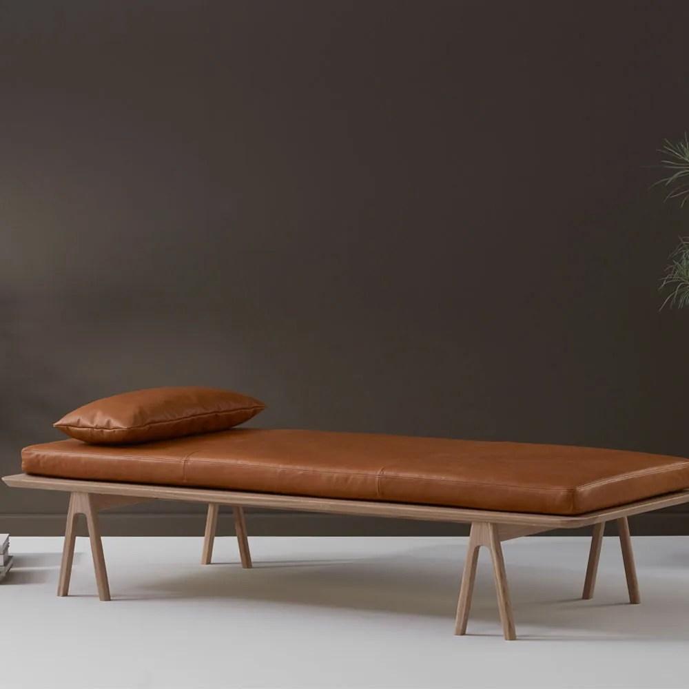Level Daybed Oak Cognac Leather - Bedroom Furniture - Bedroom on Cognac Leather Headboard  id=64446