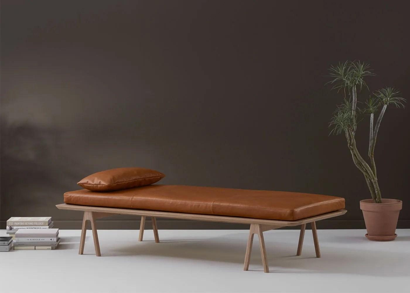 Level Daybed Oak Cognac Leather - Bedroom Furniture - Bedroom on Cognac Leather Headboard  id=32732