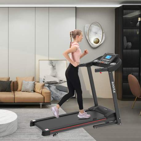 "Folding Treadmill, Smart Motorized Treadmill With Manual Incline And Air Spring & Mp3, Exercise Running Machine With 5\\\"" Lcd Display For Home Use"