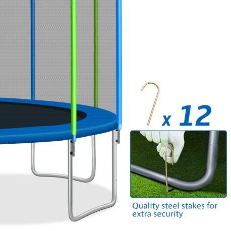 16FT Trampoline For Kids With Safety Enclosure Net