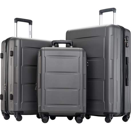 3 Pcs Luggage Set With TSA Lock,Expanable Spinner Wheel