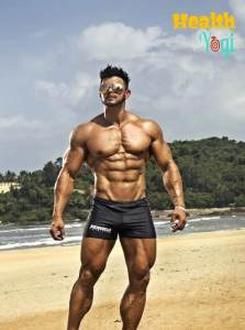 Bodybuilder Sahil Khan fitness gym abs biceps triceps legs
