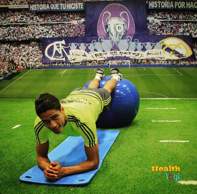 Raphael Varane warm up workout