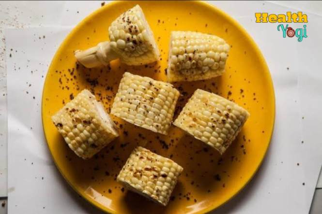 Corn with black pepper