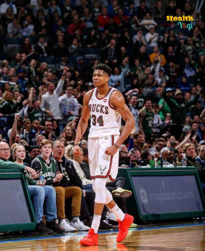 Giannis Antetokounmpo training