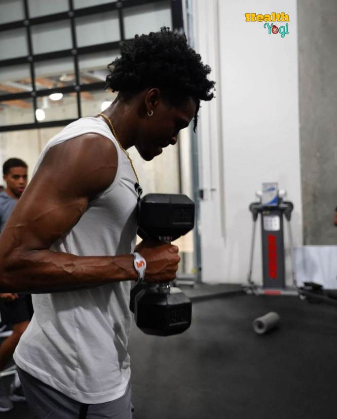 De'Aaron Fox workout at gym