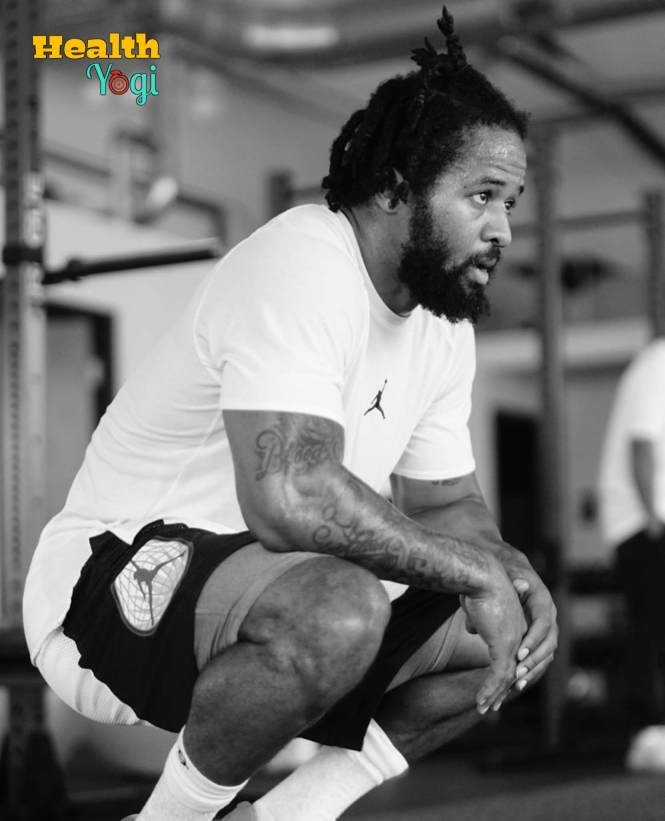 Earl Thomas Relaxing after workout