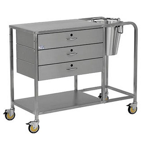 Bristol Maid Stainless Steel Plaster Trolley Sports Supports Mobility Healthcare Products