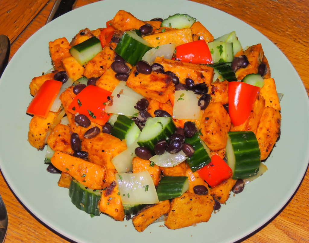 baked sweet potato salad
