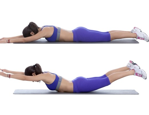 The superman core exercise