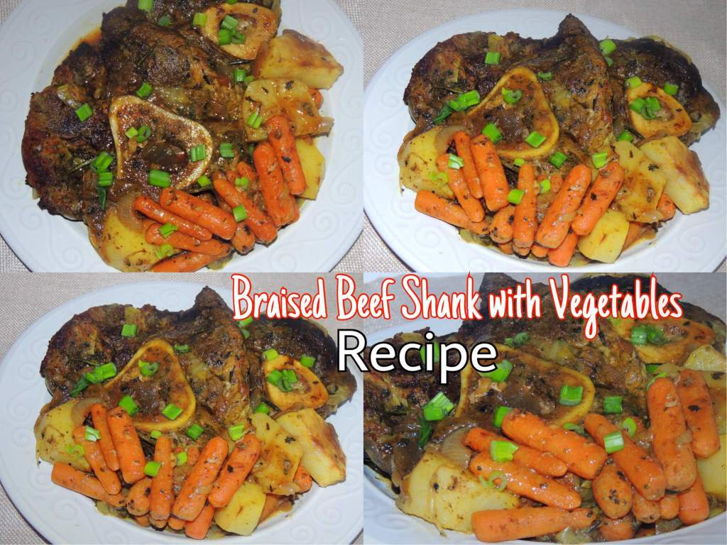 Braised Beef Shank with Vegetables Recipe and Preparation