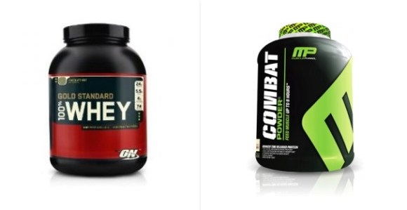 Optimum gold standard 100 whey vs MusclePharm Combat powder
