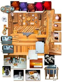 luxaris sauna accessories
