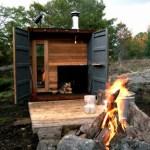 pre built outdoor sauna