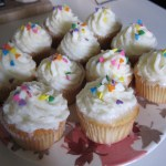 Coconut Milk Cupcakes with Coconut Frosting