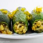 Zucchini Stuffed with Pinenuts and Herbed Basmati Rice