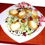 Grilled Goats Cheese with Almonds and Culinary Argan Oil