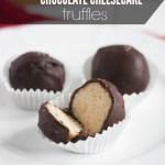 Sea Salt Chocolate Cheesecake Truffles