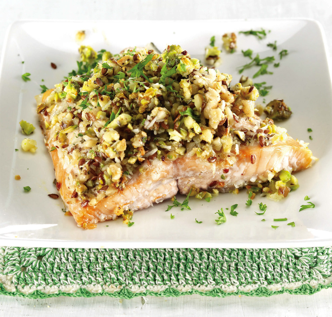 Coconut, Walnut and Pistachio Salmon Recipe