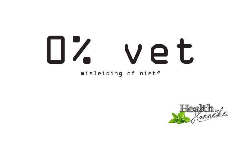 0% vet producten: misleiding of niet?