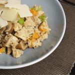 Risotto met pompoen, kip en kastanjechampignons