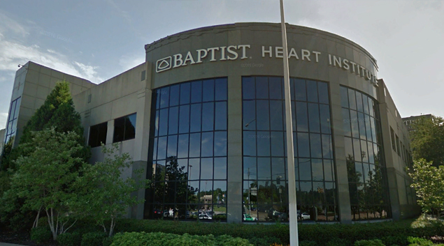 Baptist Heart Institute in Memphis, Tennessee (Google Earth)
