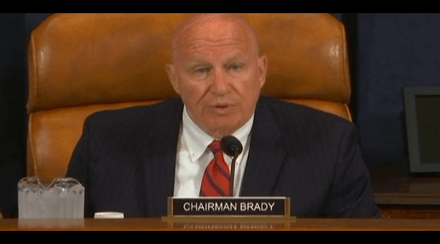 Chairman Kevin Brady, R-Texas, speaks at the Ways and Means Subcommittee hearing on rural health.