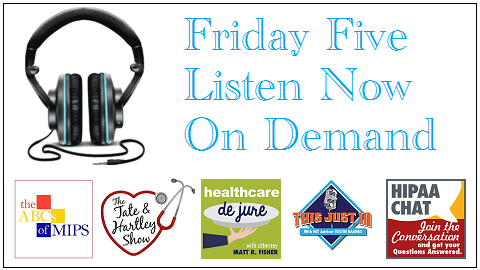 The Friday Five – ICYMI Our Top 5 Radio Shows