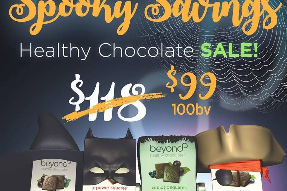 Spooktacular Sale on Healthy Dark Chocolate Just In Time For Halloween