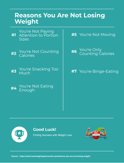 reasons you are not losing weight (infographic)