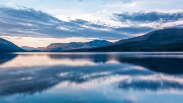 Reflection of Mcdonald Lake