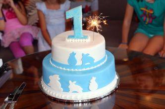 The beautiful birthday cake