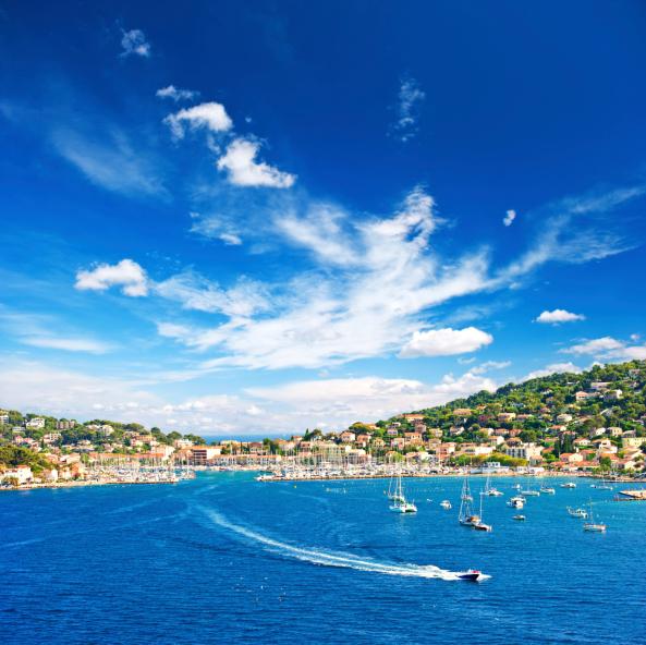 beautiful mediterranean landscape with blue sky