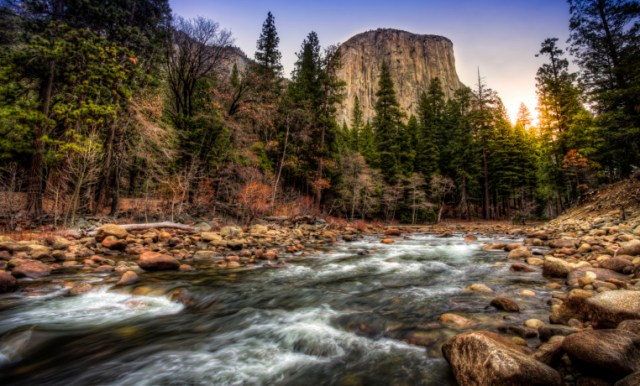 Sunrise on the Merced River & El Capitan