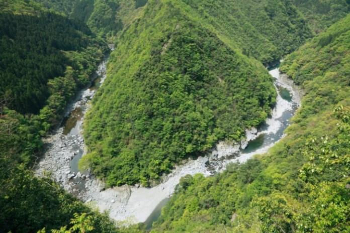The Iya Valley, High angle view, Tokushima Prefecture, Shikoku, Japan
