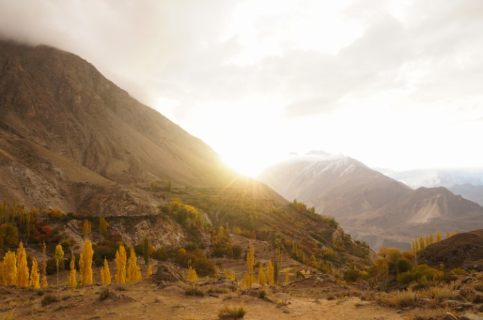 Sunrise at Hunza valley, Northern Pakistan