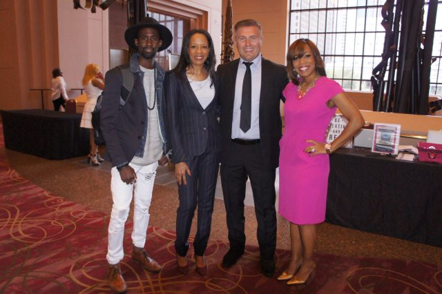 Samir Becic with guests and speaker Felicia M. Phillips, founder of Pink Power Institute