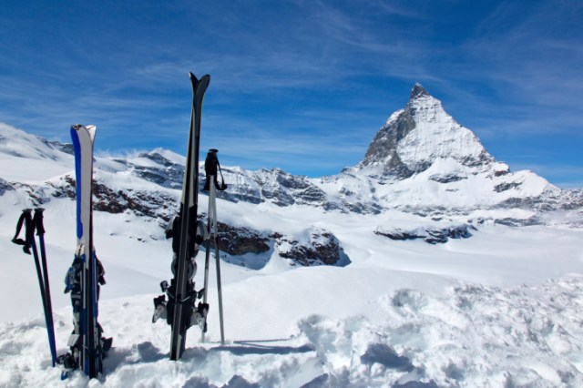 Skis and the Matterhorn