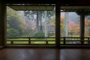 Garden view from tea house, Kyoto, Honshu, Japan