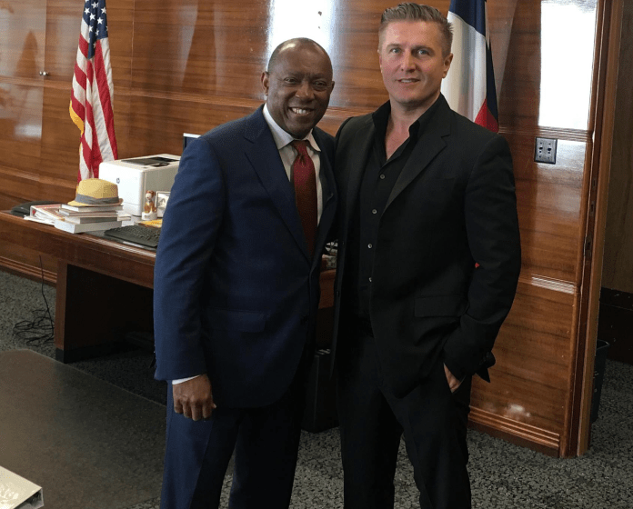 samir becic and mayor sylvester turner Houston Health