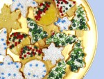 Joan round Christmas cookie plate