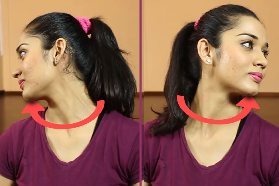 Neck rolls - Exercise For Rid Double Chin