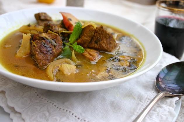 rhubarb lamb stew