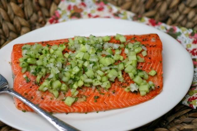 salmon entree