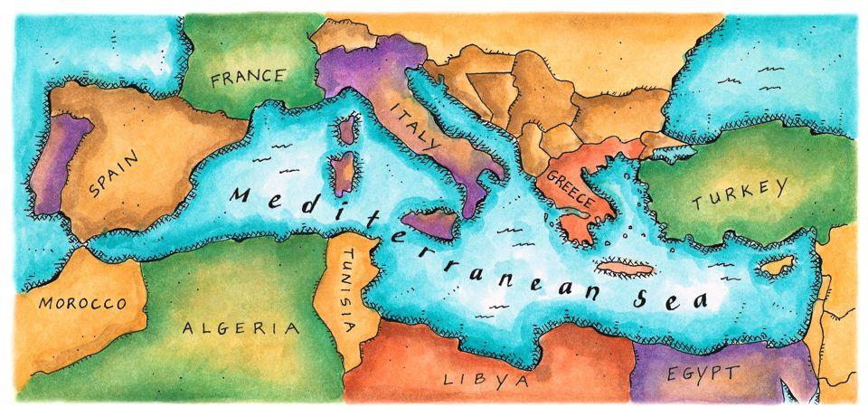 Mediterranean Diet Map