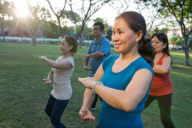 Regular physical activity will lower the chances of falling.
