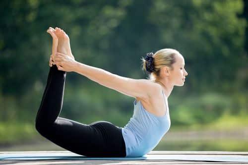 Dhanurasana helps one lose weight