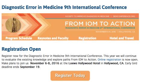 SIDM Diagnostic Error in Medicine